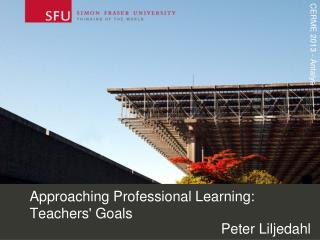 Approaching Professional Learning: Teachers' Goals