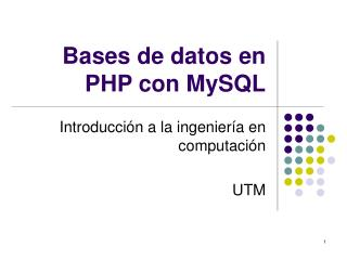 Bases de datos en PHP con MySQL