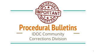 Procedural Bulletins