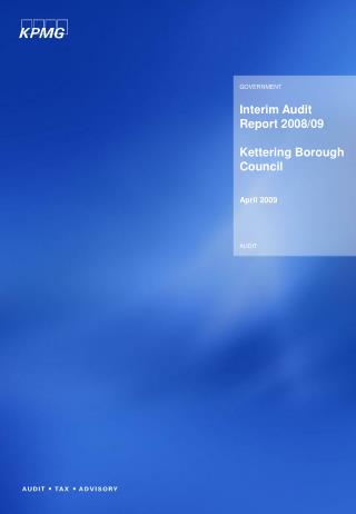 Interim Audit Report 2008/09 Kettering Borough Council