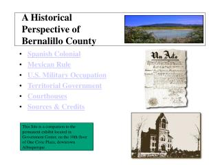 A Historical Perspective of Bernalillo County