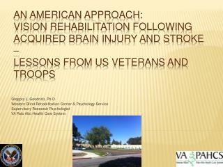 An American Approach:  Vision Rehabilitation Following Acquired Brain Injury and Stroke –  Lessons from US Veterans and