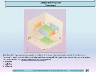 Le Proiezioni Ortogonali Presentazione