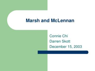 Marsh and McLennan