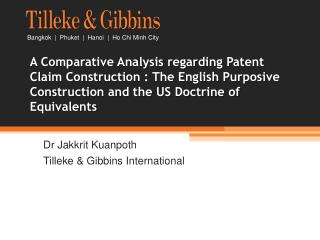 A Comparative Analysis regarding Patent Claim Construction : The English Purposive Construction and the US Doctrine of