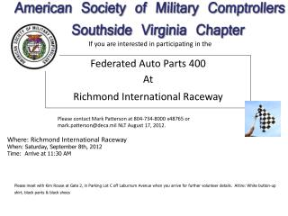 Federated Auto Parts 400 At Richmond International Raceway