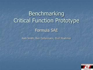Benchmarking Critical Function Prototype