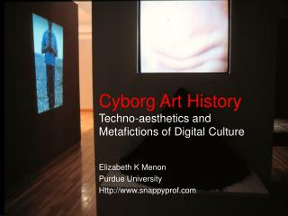 Cyborg Art History Techno-aesthetics and  Metafictions of Digital Culture