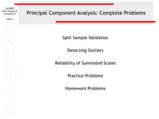 Principal Component Analysis: Complete Problems