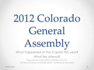 2012 Colorado General Assembly