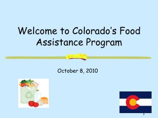 Welcome to Colorado's Food Assistance Program