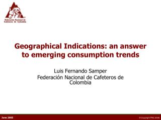 Geographical Indications: an answer to emerging consumption trends