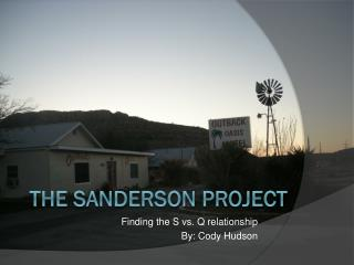 The Sanderson Project