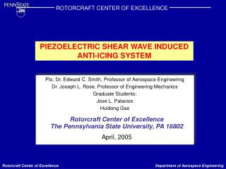 PIEZOELECTRIC SHEAR WAVE INDUCED ANTI-ICING SYSTEM