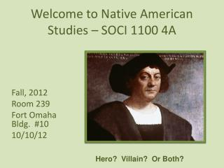 Welcome to Native American Studies – SOCI 1100 4A