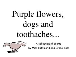 Purple flowers, dogs and toothaches...