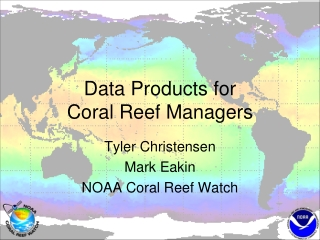 Data Products for Coral Reef Managers