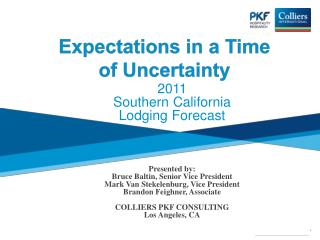 Expectations in a Time of Uncertainty
