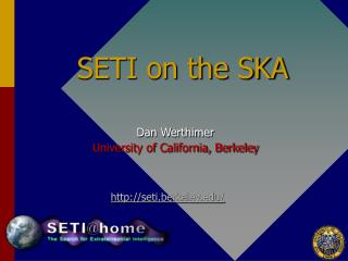 SETI on the SKA