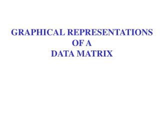 GRAPHICAL REPRESENTATIONS OF A DATA MATRIX