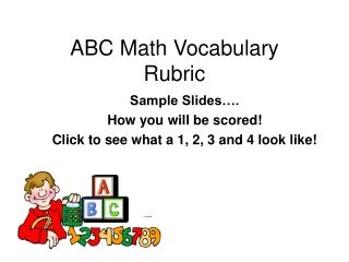 ABC Math Vocabulary Rubric