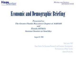 Economic and Demographic Briefing