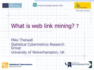 What is web link mining?  ?