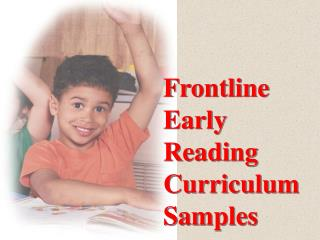 Frontline Early  Reading Curriculum Samples