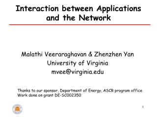 Interaction between Applications and the Network