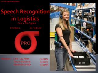 Speech  Recognition  in Logistics