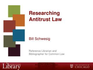 Researching  Antitrust Law