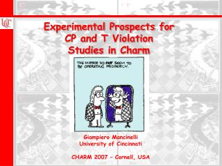 Experimental Prospects for  CP and T Violation  Studies in Charm