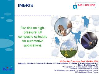 Fire risk on high-pressure full composite cylinders for automotive applications