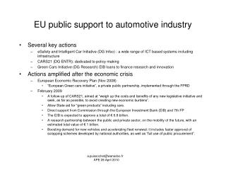 EU public  support to automotive industry