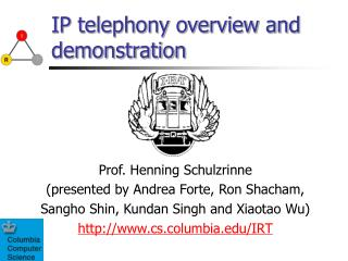 IP telephony overview and demonstration