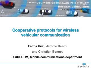 Cooperative protocols for wireless vehicular communication
