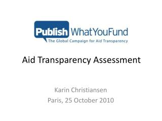 Aid Transparency Assessment