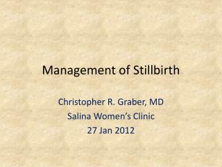 Management of Stillbirth