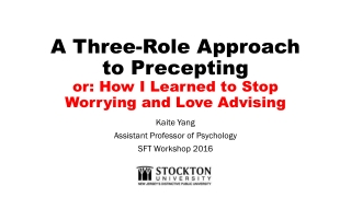 Ethics And Advising Workshop