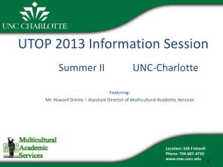 UTOP 2013 Information Session