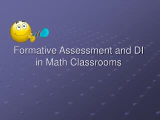 Formative Assessment and DI in Math Classrooms