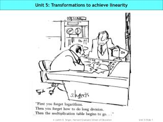 Unit 5: Transformations to achieve linearity