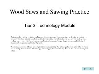 Wood Saws and Sawing Practice