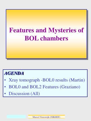 Features and Mysteries of BOL chambers