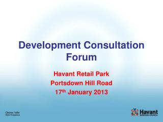 Development Consultation Forum