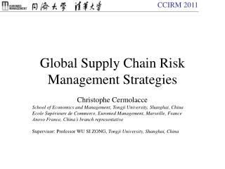 Global Supply Chain Risk Management Strategies