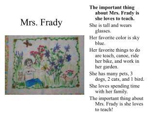 Mrs. Frady