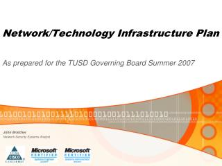 Network/Technology Infrastructure Plan