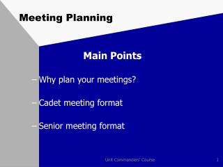 Meeting Planning