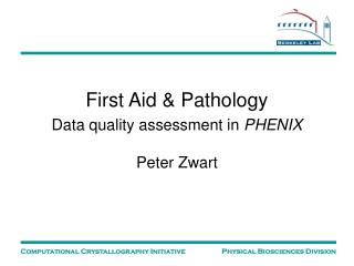 First Aid & Pathology Data quality assessment in  PHENIX